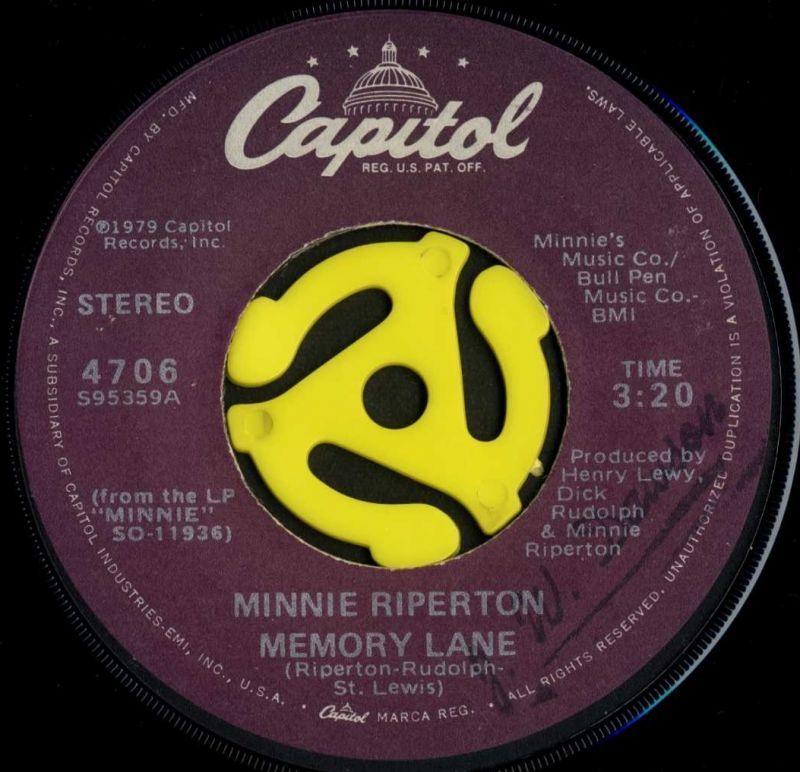 Minnie Riperton / Memory Lane(...