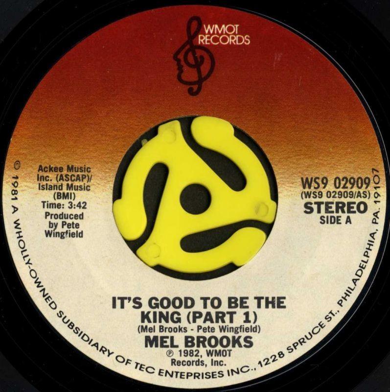 MEL BROOKS / It's Good To Be T...