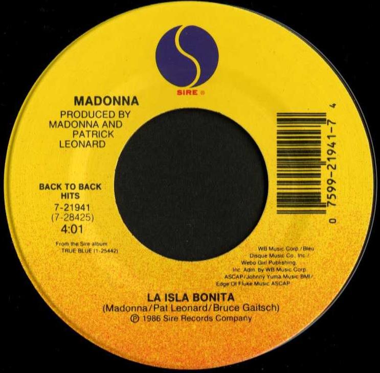 Madonna/La Isla Bonita(Sire/45...