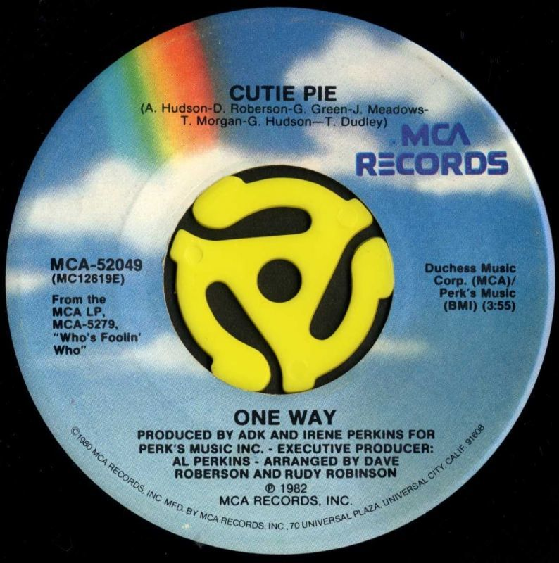 One Way / Cutie Pie(MCA/45s) -...